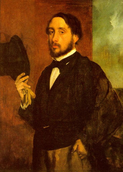 Edgar Degas, self portrait